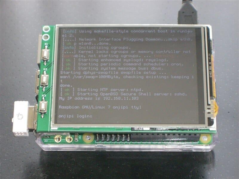 起動画面から LCD に表示させる