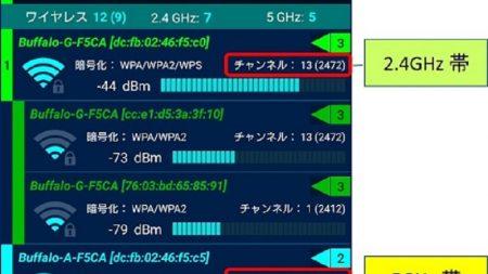 5GHz帯で使用するチャンネルを変える