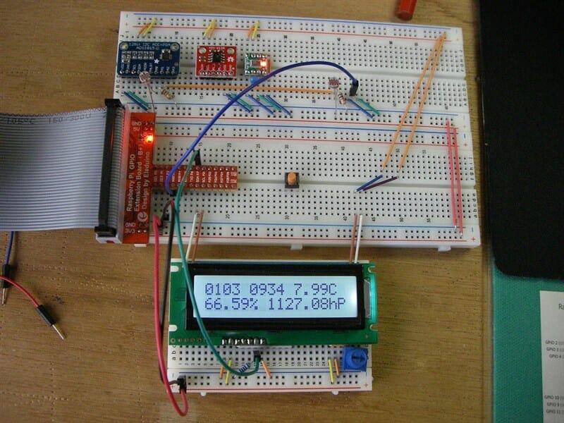 キャラクタLCDへの表示 i2c回路図