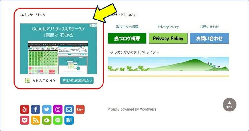 Adsense 広告の設置