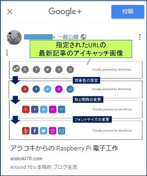SNSボタン Google+