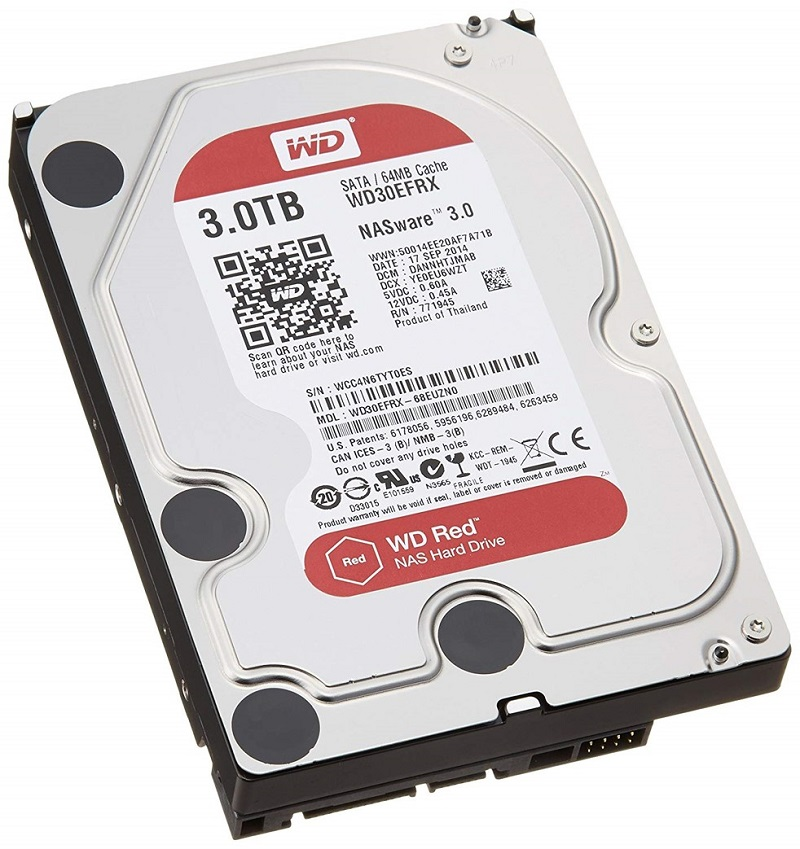 WD Red NAS用 HDD 3TB WD30EFRX 5400rpm