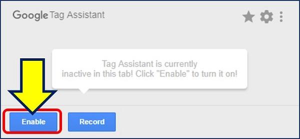 「Google Tag Assistant」の画面が表示される