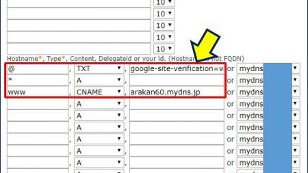 MyDNS.JPにおけるドメイン設定
