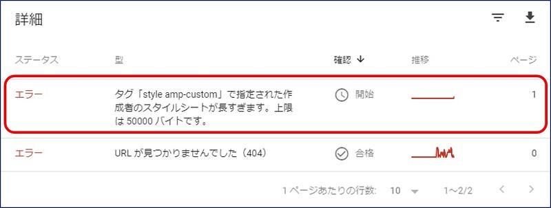 タグ「style amp-custom」で指定された作成者のスタイルシートが長すぎます。上限は 50000 バイトです。
