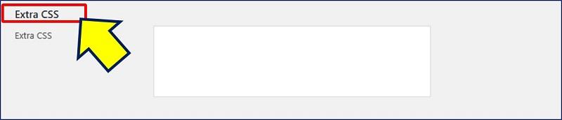 「Extra CSS」で、CSSの追加が出来る