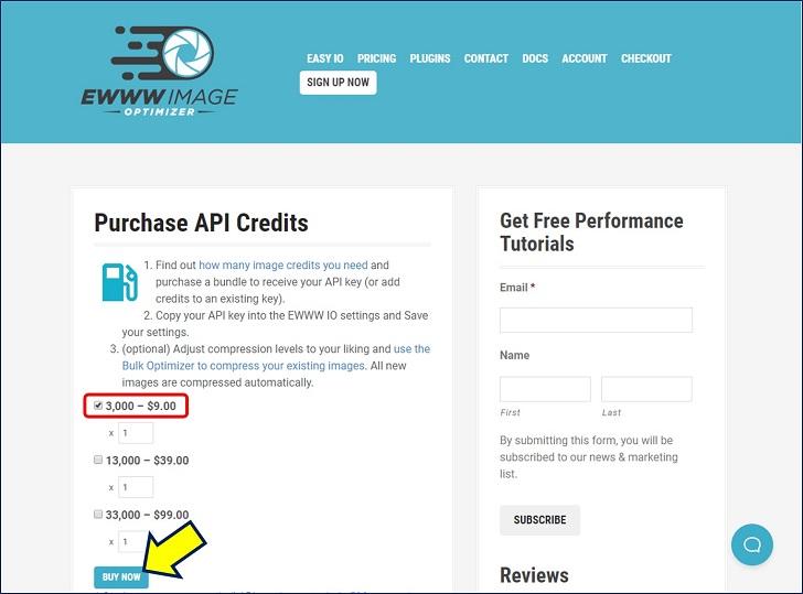APIキーの購入画面に入り、取り敢えず『3,000 - $9.00』(まだ 4,000枚以上の画像が残っているが。)のAPIクレジットを購入する