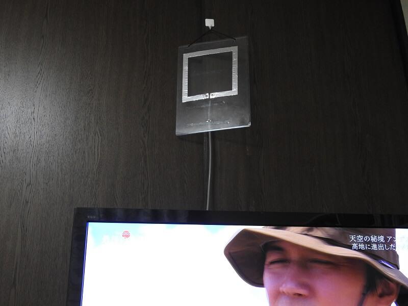 作成したアンテナを壁にかけ、TVの電源を入れると『ビックリするような解像度』でテレビが映る