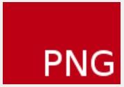 右下の隅に赤の背景色でPNGという標識が現れる