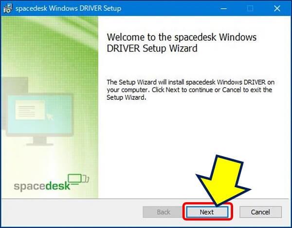 ダウンロードしたファイルを実行すると、セットアップが開始される