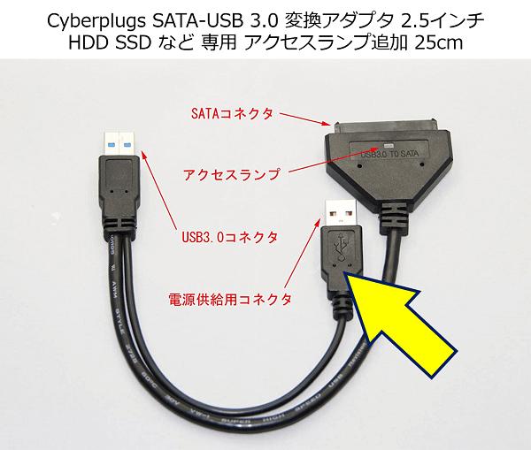 参考:下記の変換アダプタで、電源供給コネクタをUDB2.0に挿して使用してもOKだった