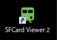 インストールが完了すると、「SFCard Viewer 2」のアイコンがデスクトップに作られる。